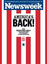 Newsweek April 2010 cover America is Back